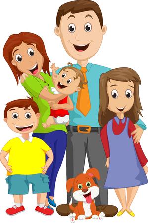 Ilustración de un retrato gran familia