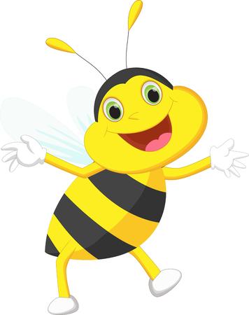 cute cartoon: cute bee cartoon