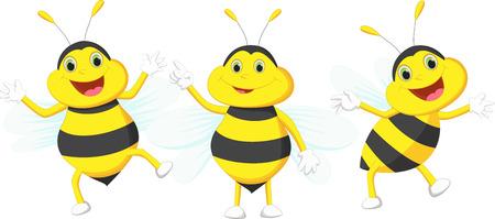 abejas: linda de la historieta de la abeja Vectores