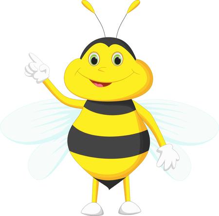 cute bee: cute bee cartoon pointing