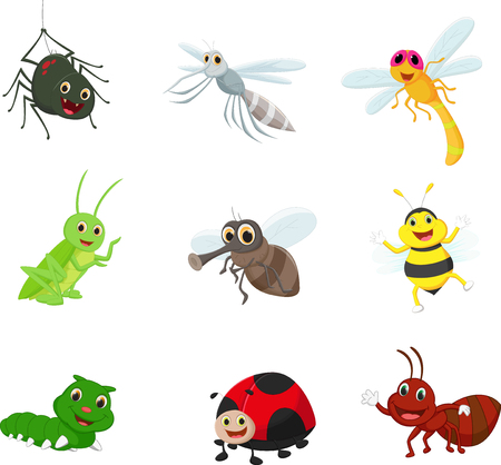 nuisance: Insect cartoon collection set