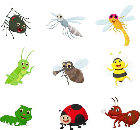 Insect cartoon zestaw kolekcji
