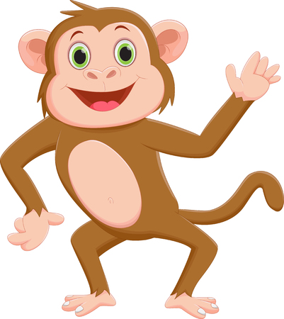 thumping: Funny monkey cartoon