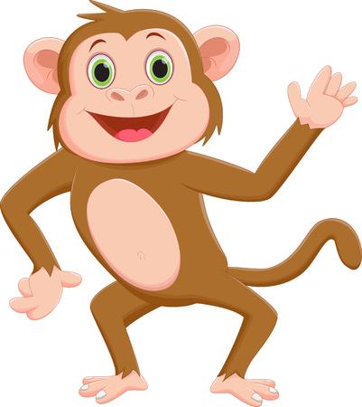 thumping: Funny monkey cartoon
