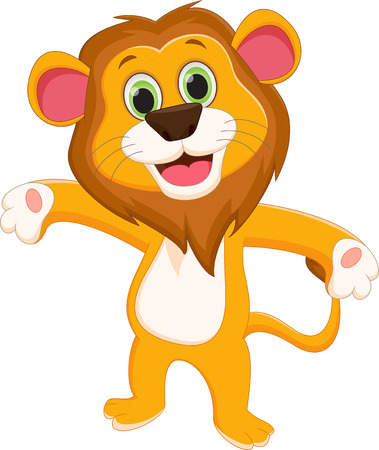 panthera: happy lion cartoon