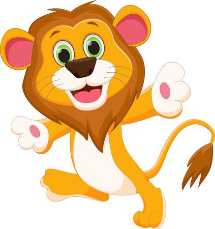 felid: happy lion cartoon