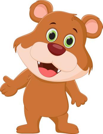 cute bear: cute brown bear cartoon