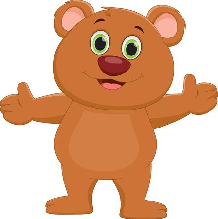 cute bear: cute baby bear cartoon Illustration