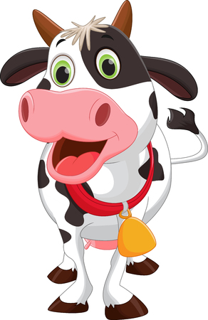 Happy cow cartoon 向量圖像