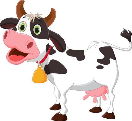 Happy cow cartoon Illustration