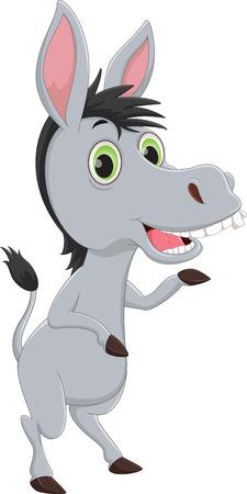 funny donkey: funny donkey cartoon waving hand
