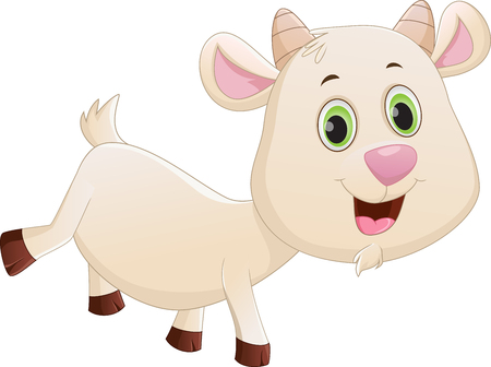 baby goat: happy baby goat cartoon