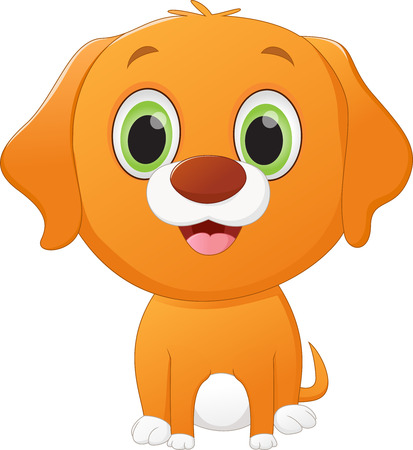 drool: cute little dog cartoon Illustration