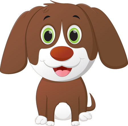 foolish: cute little dog cartoon Illustration