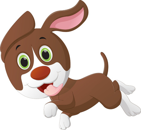 little dog: cute little dog cartoon Illustration