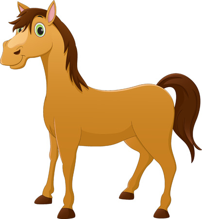 nostrils: cute horse cartoon Illustration