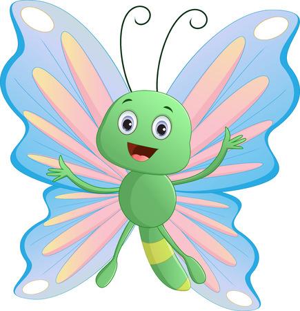 flaying: Cute butterfly cartoon