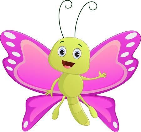 amor: Cute butterfly cartoon