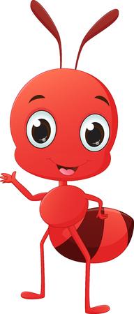 pincher: cute ant cartoon waving Illustration