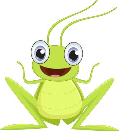 locust: Cute grasshopper cartoon Illustration