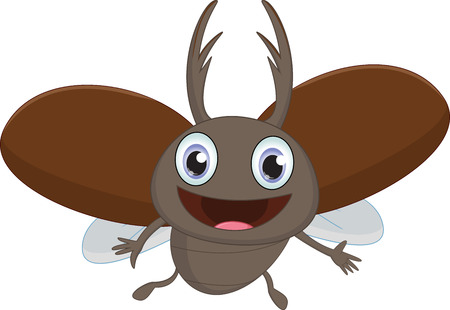 stag beetle: happy stag beetle cartoon flying