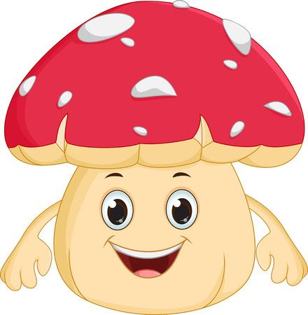 mushroom cartoon: happy mushroom cartoon Illustration