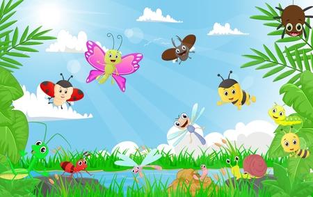 familie van insecten in de rivieroever