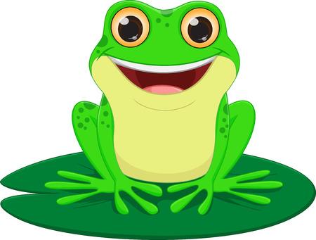 cute Frog cartoon Stock Vector - 60374834