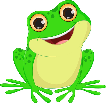 leaping: cute Frog cartoon