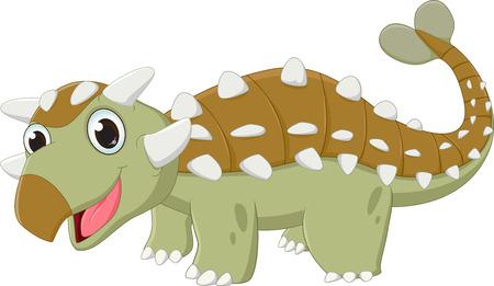 illustratie van de dinosaurus Ankylosaurus
