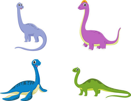 cute dinosaurs cartoon collection