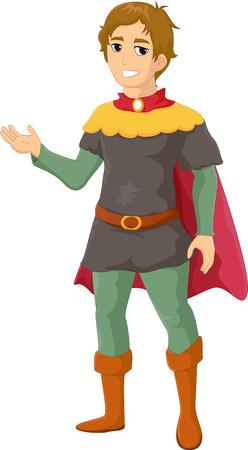 mercenary: Illustration of Prince cartoon waving hand
