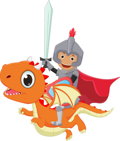 small knight riding the dragon