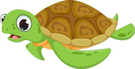 Nette Meeresschildkröte Karikatur