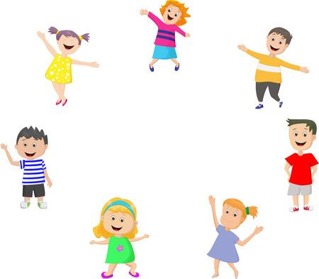 happy kids: Happy kids cartoon Illustration