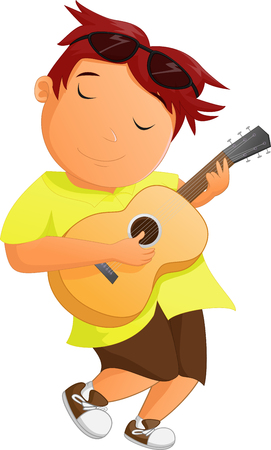 boy playing guitar: boy playing guitar