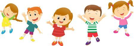 happy kids: Group of happy kids cartoon