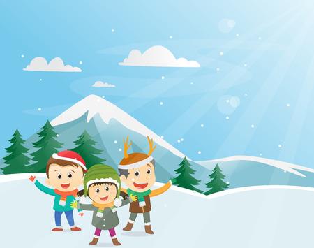 happy kids: Happy Winter Kids