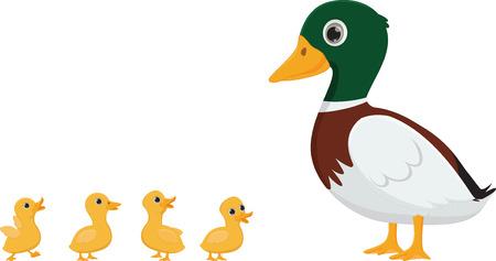 Duck familie cartoon