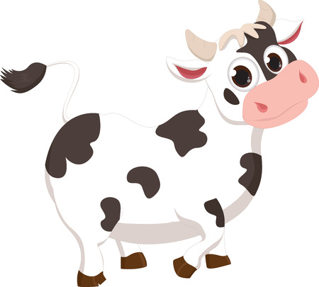 moo: Illustration of Cute cow cartoon