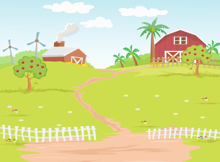 Background farm in the countryside
