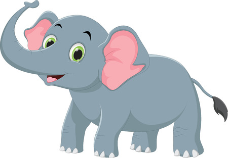 cute elephant cartoon Foto de archivo - 97735565