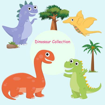 cute dinosaur cartoon character Çizim
