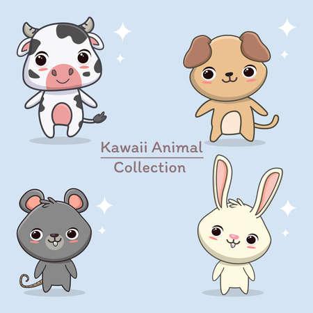 cute animal kawaii cartoon collection Çizim
