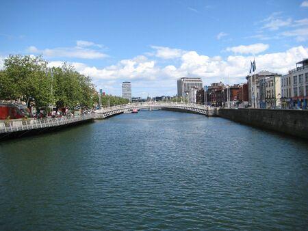 De Liffey rivier, Dublin, Ierland
