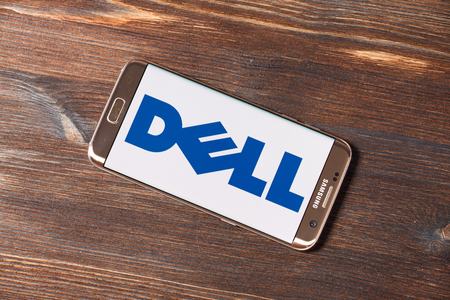 Kazan, Russian Federation - Aug 5, 2018: Dell Inc. logo printed on paper and placed on white background. Dell Inc. is an American privately owned multinational computer technology company