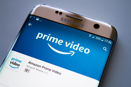 Kazan, Russian Federation - Jun 15, 2018: Amazon Prime Video HomePage of Website. Amazon, is an American electronic commerce. To expand its business, amazon has created a new online streaming video service