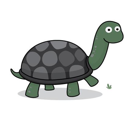 Turtle Icon, Cartoon Illustration