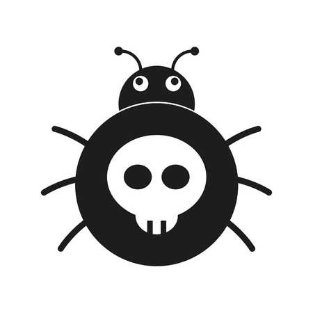 Bug, Computer virus icon Illustration