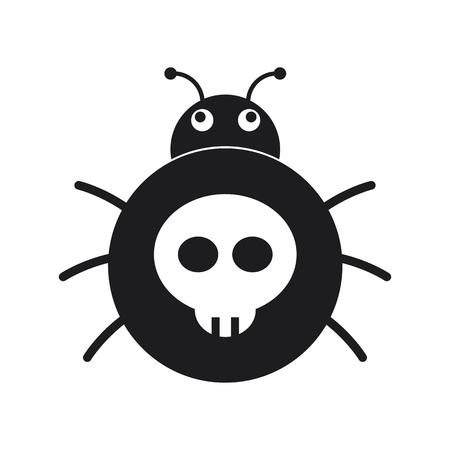 Bug, Computer virus icon Illustration